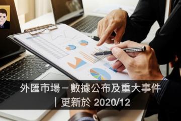 外匯市場-數據公布及重大事件|更新於 2020/12